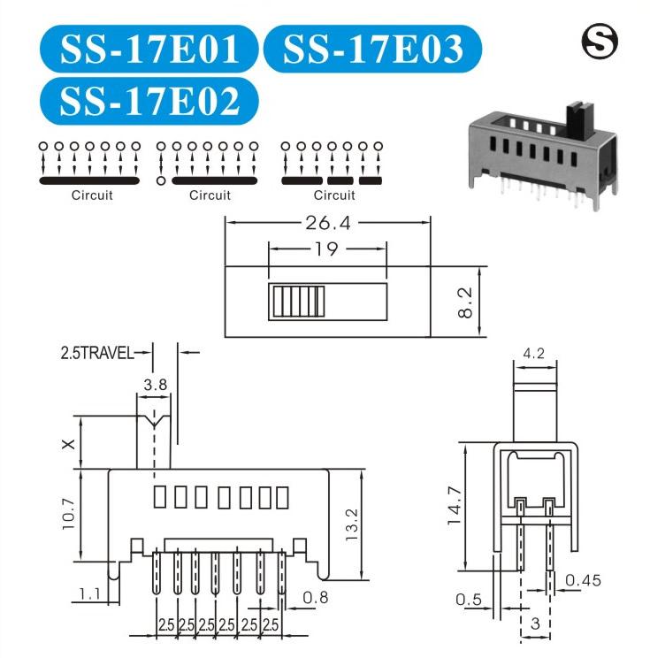 SS-17E01轻触开关